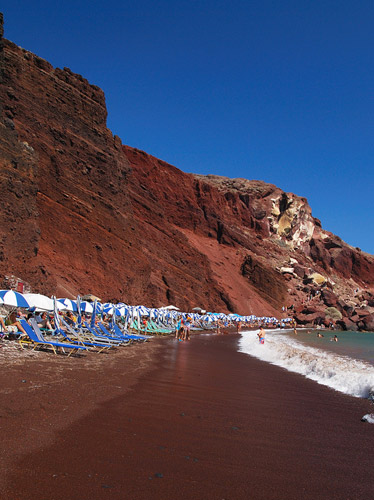santorini tours - santorini red beach