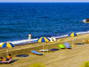 Santorini Vourvoulos Beach