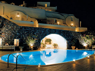 Canaves Oia Hotel At Night