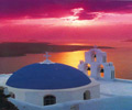Beautiful Sunset Santorini