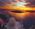santorini beautiful sunset picture